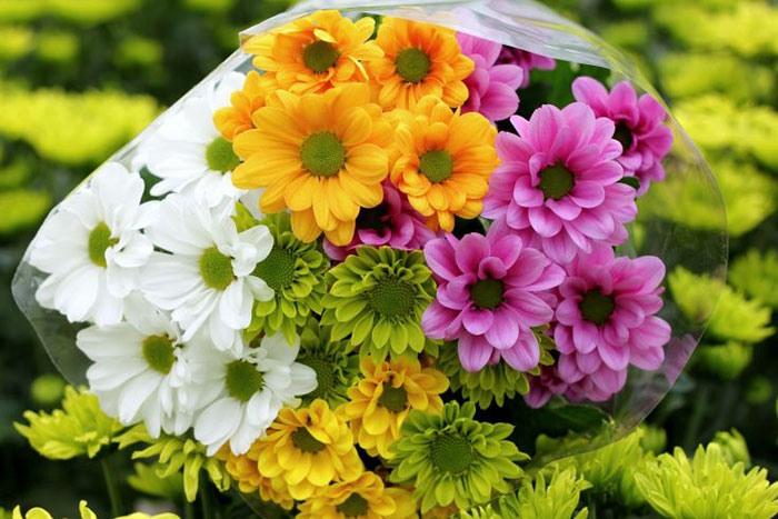 Букет невесты из хризантем с фото