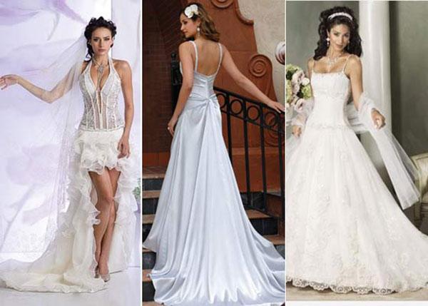 Прямые свадебные платья со шлейфом