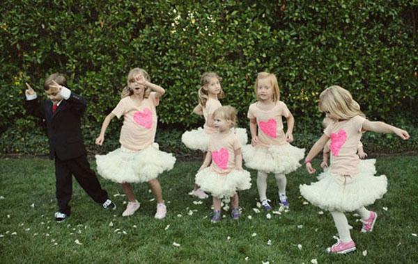 Дети на свадьбе: чем их занять