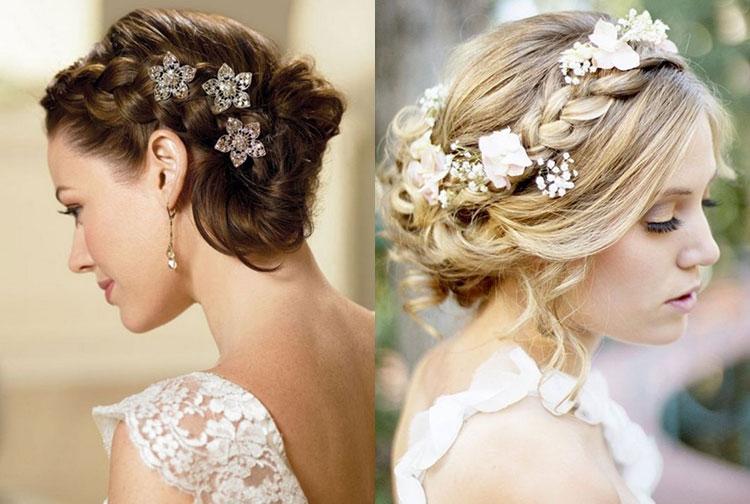 Нежные свадебные прически на короткие волосы