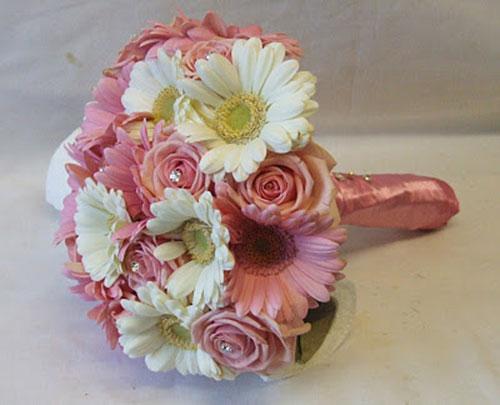 Букет невесты из гербер: фото, советы как подобрать